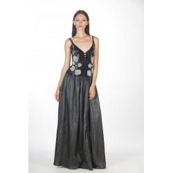 Long lurex skirt