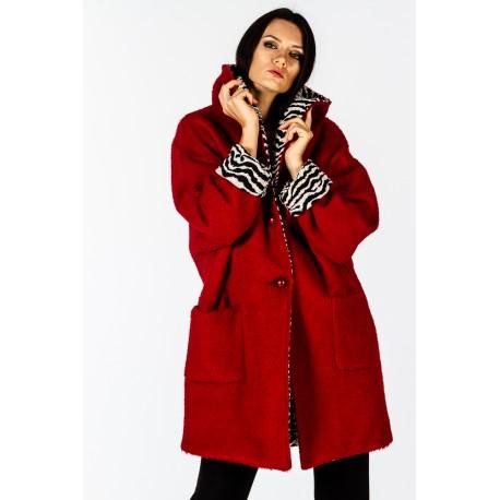 Cappotto rosso reversibile