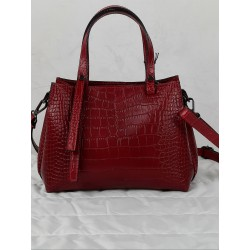 Small bag in crocodile print leather