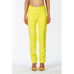 Classic trousers in stretch yellow cady