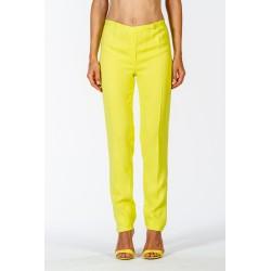 Pantalone classico in cadì elasticizzato