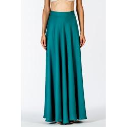 Long green full skirt