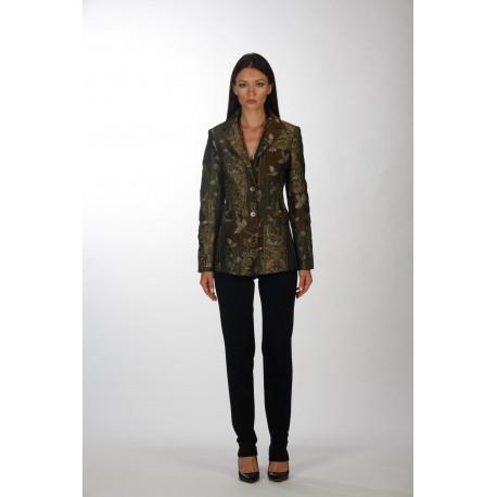 Jacquard lapel jacket