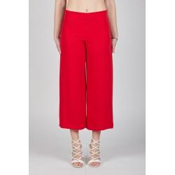Pantalone largo rosso