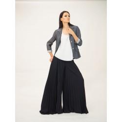 Pantalone largo a plissè