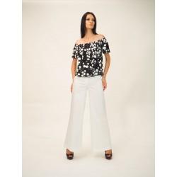 Pantalone largo in cotone