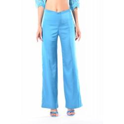 Pantalone elegante largo in raso elasticizzato