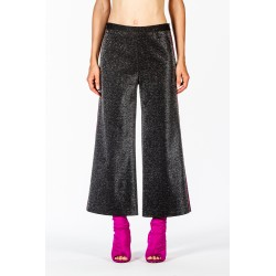 Pantalone gaucho lurex argento