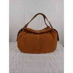 Large bag in mustard leather